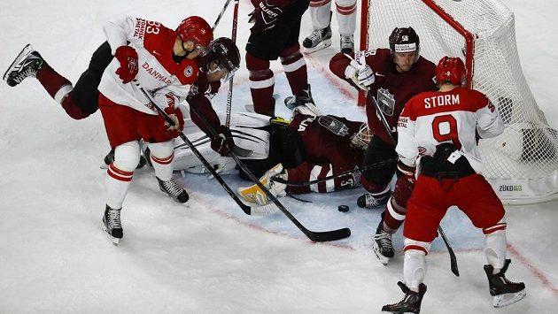 Hokejisté Lotyšska vyhráli na mistrovství světa nad Dánskem 3:0.