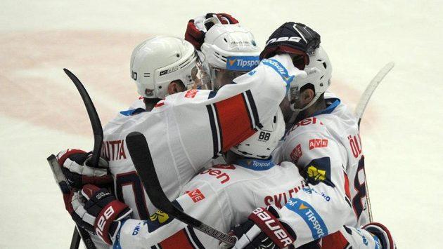 Chomutovští hokejisté se radují, ilustrační snímek