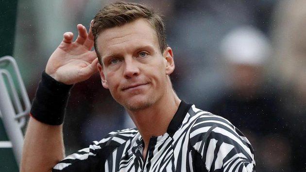 Tomáše Berdycha naštvalo přerušení zápasu.
