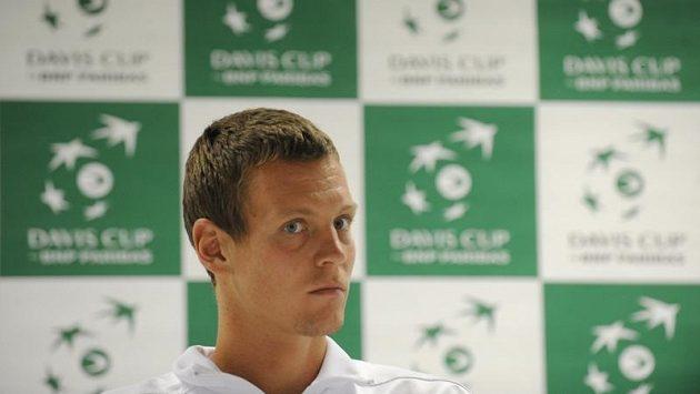 Daviscupový reprezentant Tomáš Berdych