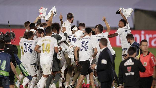 Radující se hráči Realu Madrid - ilustrační foto.
