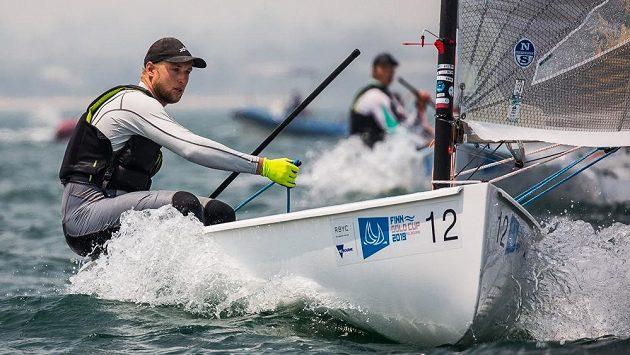 Ondřej Teplý v Melbourne při mistrovství světa třídy Finn.