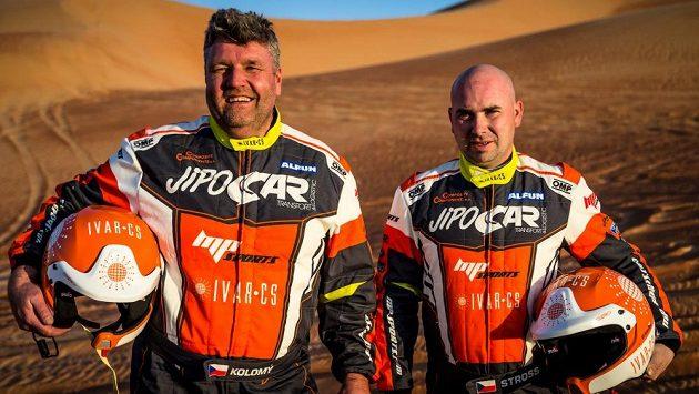 Martin Kolomý (vlevo) a Jiří Stross ve zrádných dunách...