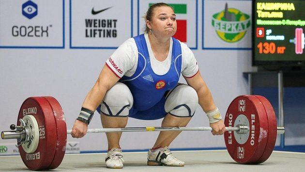 Ruská vzpěračka Taťjana Kaširinová.