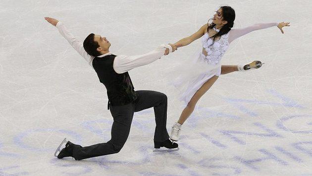 Taneční pár Cortney Mansourová a Michal Češka