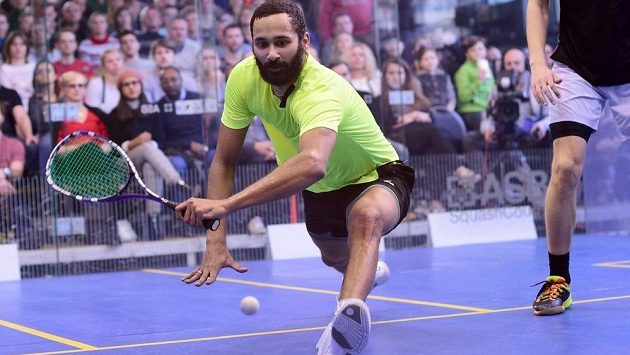 Úřadující mistr republiky ve squashi - Daniel Mekbib. Teď se ukáže na MS.