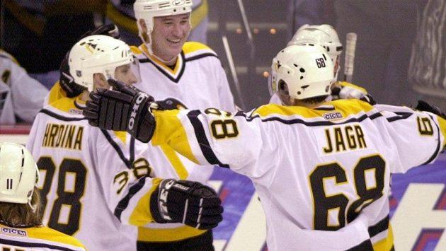 Jaromír Jágr, Mario Lemieux, Jan Hrdina... Momenty v historii Pittsburghu, na které čeští hokejoví fandové vzpomínají rádi.
