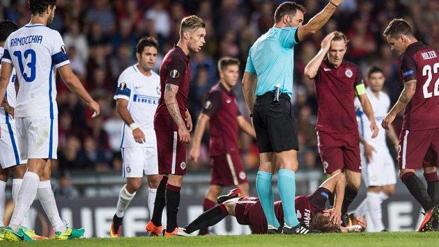 Martin Frýdek se zranil v zápase s Interem Milán.