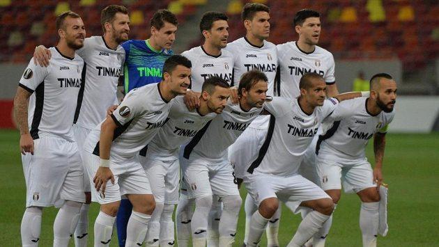 Fotbalisté Astry Giurgiu před zápasem Evropské ligy s Austrií Vídeň.