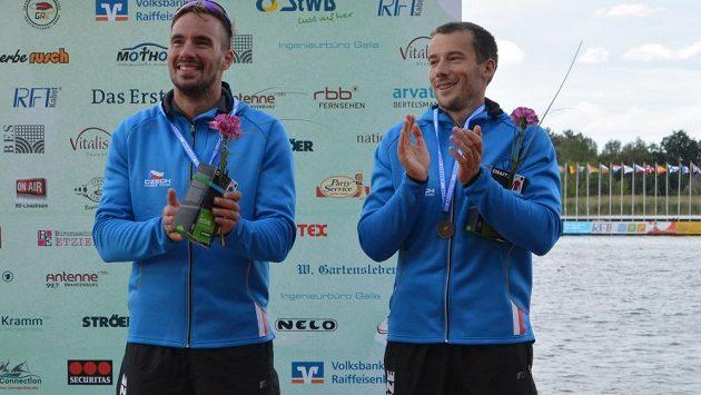 Jaroslav Radoň (vpravo) a Filip Dvořák, bronzoví medailisté z mistrovství Evropy.