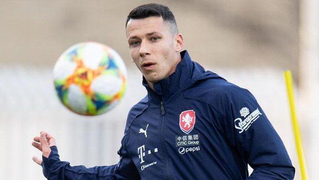 Marek Suchý během tréninku fotbalové reprezentace před zápasem s Brazilií.