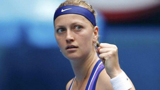 Petra Kvitová při čtvrtfinálovém duelu Australian Open s Italkou Erraniovou.