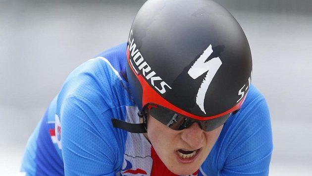 Martina Sáblíková na MS v silniční cyklistice ve španělské Ponferradě.