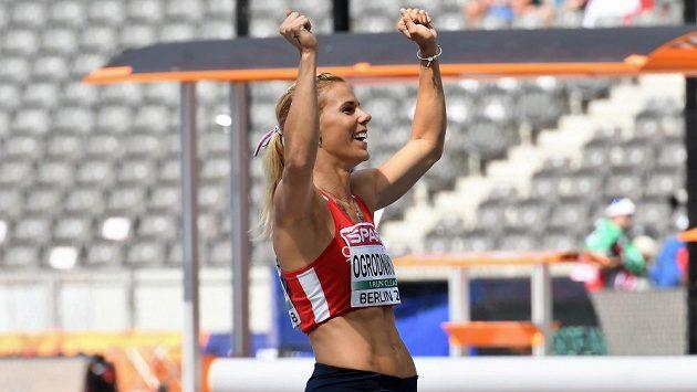 Radost Nikoly Ogrodníkové po úspěšné kvalifikaci mistrovství Evropy v Berlíně.