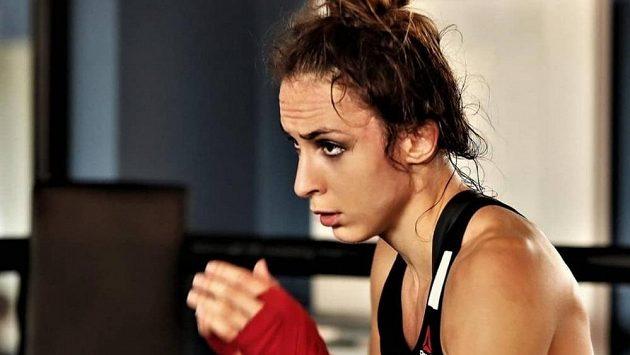 Lucie Pudilová v tréninku. Jak dopadne její další zápas?