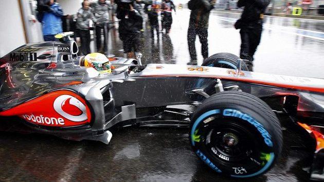 Britský závodník Lewis Hamilton během Velké ceny Belgie ve Spa.