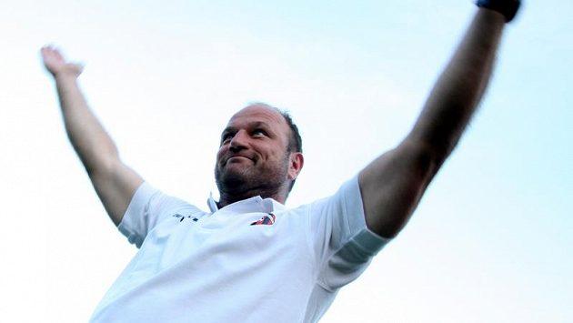 Trenér Pavel Hoftych, v současné době mezinárodní manažer Trnavy.