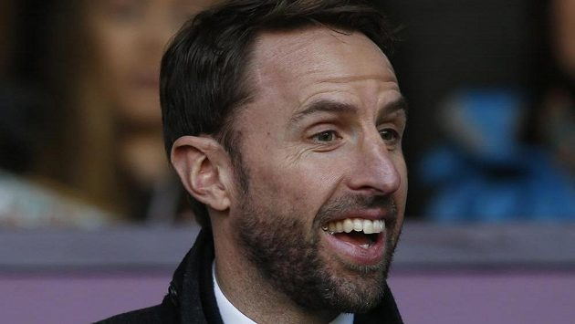 Trenér anglické fotbalové reprezentace Gareth Southgate.