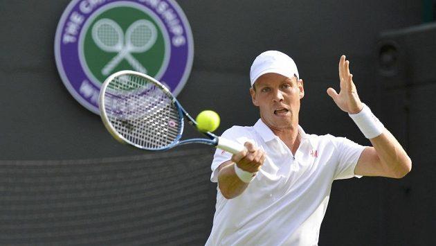 Tomáš Berdych v prvním kole Wimbledonu.