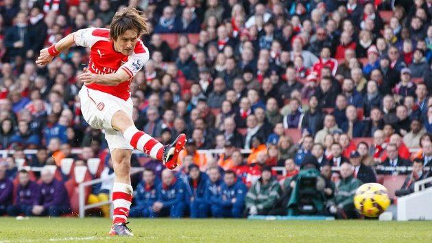 Tomáš Rosický v dresu Arsenalu.