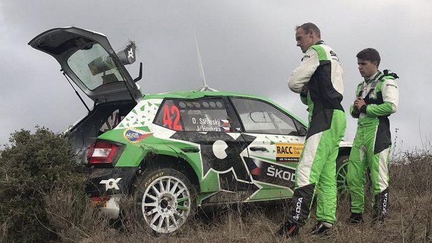 Dominik Stříteský na trati sedmé rychlostní zkoušky Katalánské rallye.