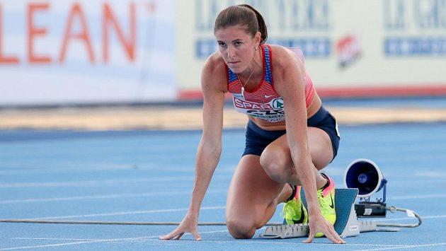 Zuzana Hejnová na startu při mistrovství Evropy družstev v Bydhošti.