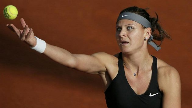Česká tenistka Lucie Šafářová na letošním French Open v Paříži.