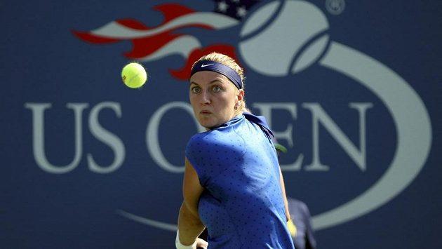 Tenistka Petra Kvitová v utkání 1. kola US Open.