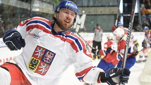 Lukáš Kašpar, střelec dvou branek českého týmu v utkání s Norskem.