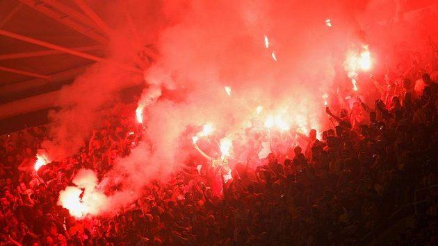 Fanoušci během finále africké Ligy mistrů.