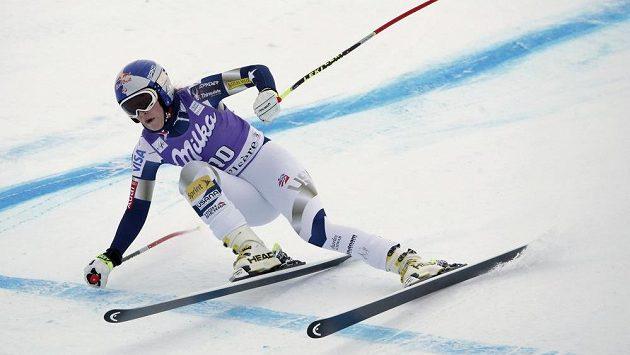 Americká lyžařka Lindsey Vonnová si ve Val d'Isere zranila operované koleno.