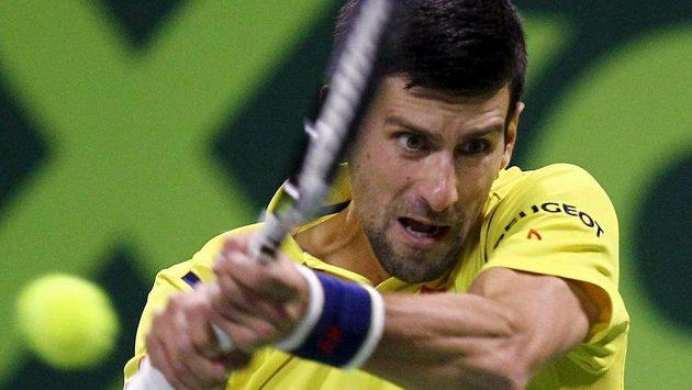 Novak Djokovič ve finále turnaje v Dauhá.