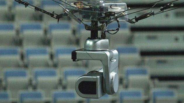 Lanovková kamera připravena k akci.