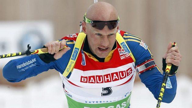 Švédský biatlonista Carl Johan Bergman.