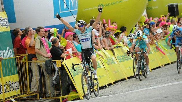 Zdeněk Štybar vítězí ve třetí etapě závodu Kolem Polska.