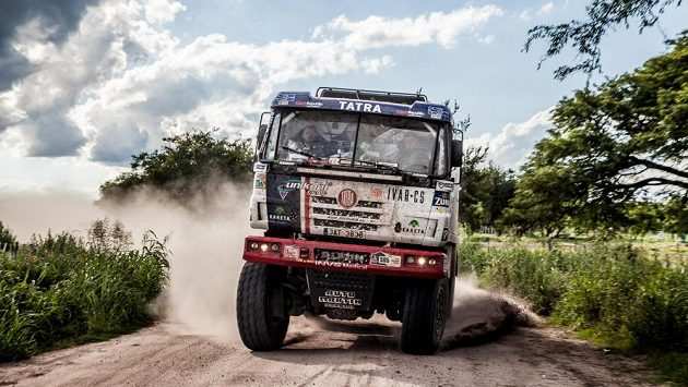 Martin Kolomý na trati Rallye Dakar.