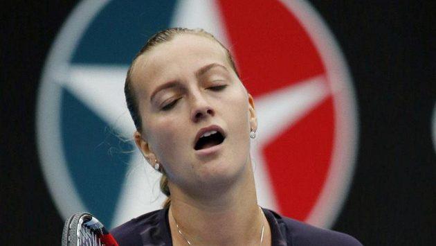 Zklamaná tenistka Petra Kvitová