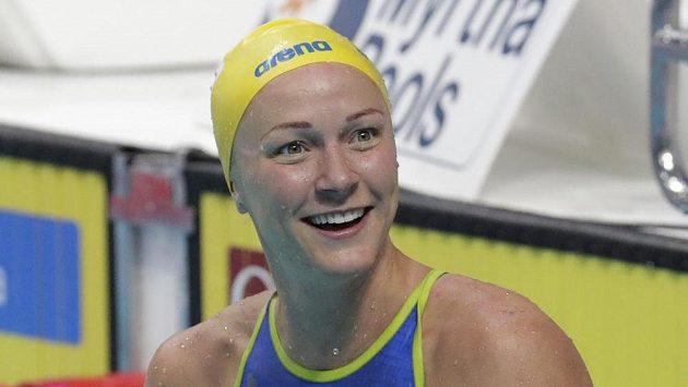 Švédka Sarah Sjöströmová na snímku z MS v Budapešti.