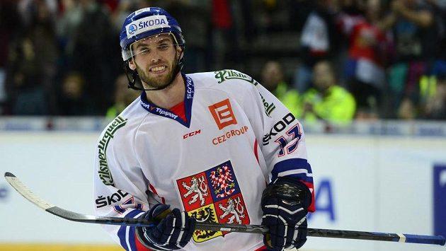 Vladimír Svačina po vstřelení vítězného gólu českého týmu v druhém utkání s Rusy.