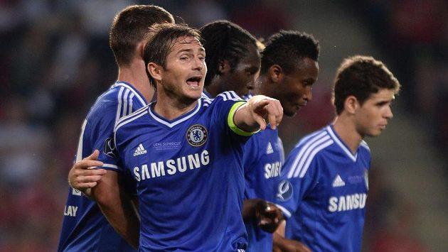 Frank Lampard ještě v dresu Chelsea v utkání Superpoháru s Bayernem Mnichov.