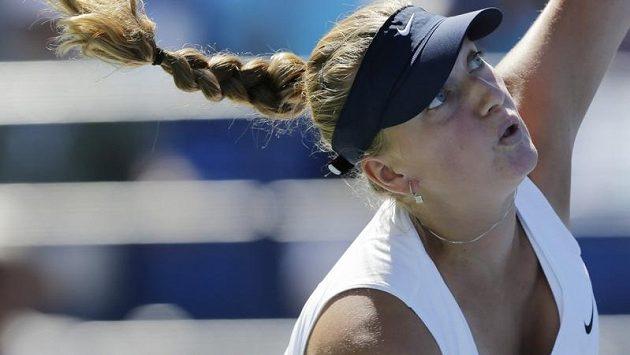 Petra Kvitová při utkání s Alizé Cornetovou.