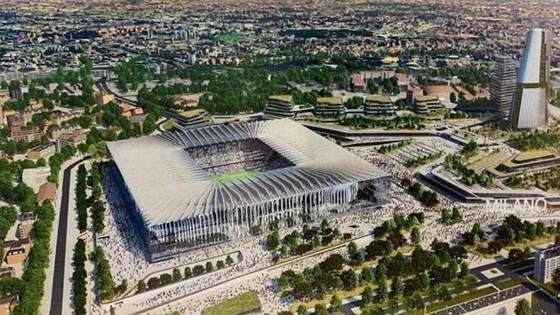 Návrh podoby nového stadionu San Siro od americké společnosti Populous