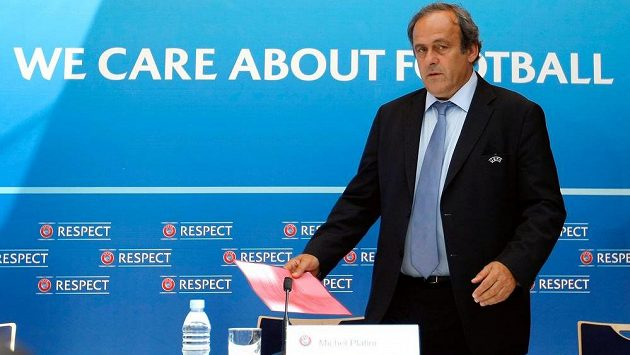 Suspendovaný předseda UEFA Michel Platini.