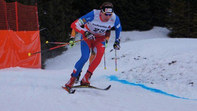 Běžec na lyžích Lukáš Bauer při Světovém poháru v Davosu.