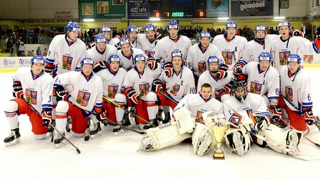 Čeští hokejisté do 20 let na nedávném turnaji v Přerově.
