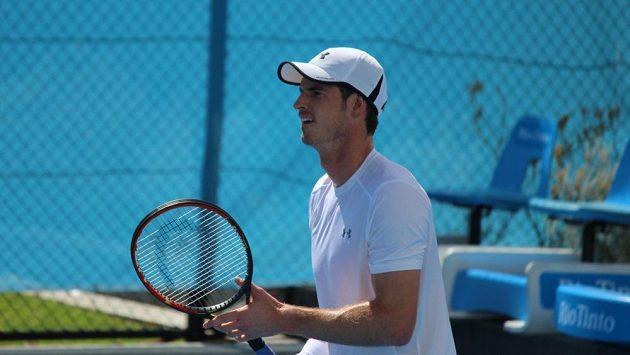 Britský tenista Andy Murray na tréninku.