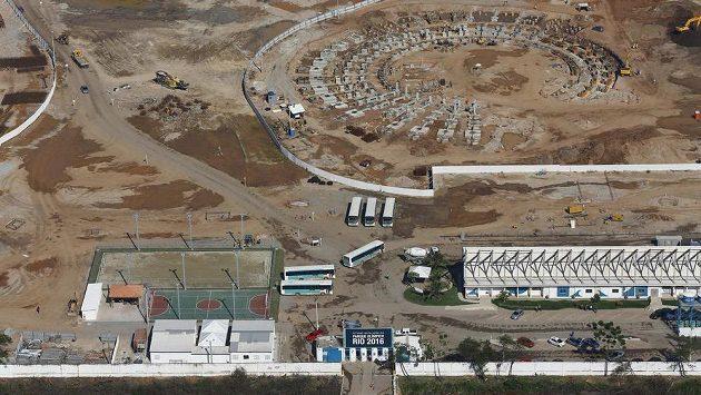 Místo pro výstavbu části Olympijského parku v Rio de Janeiru.