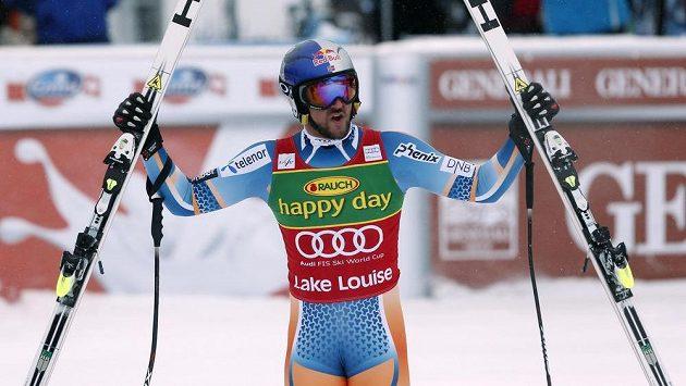 Nor Aksel Lund Svindal ovládl super-G v Lake Louise