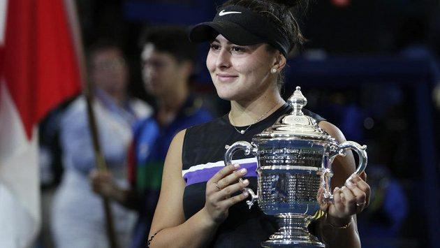 Bianca Andreescuová po vítězství ve finále US Open.