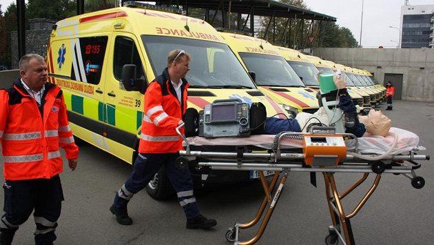 Vozový park zdravotnické záchranné služby - ilustrační foto.